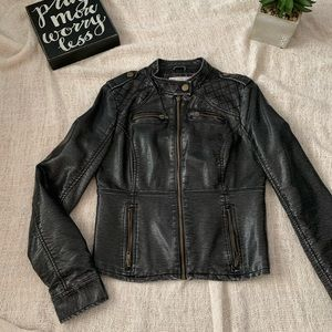Mossimo Womens Faux Leather  (old/worn leather)
